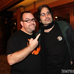 TPA's Rick West with Mark Silverman, voice of Tower of Terror