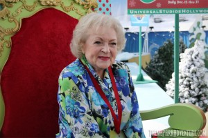 Betty White at Universal Studios Hollywood for Grinchmas