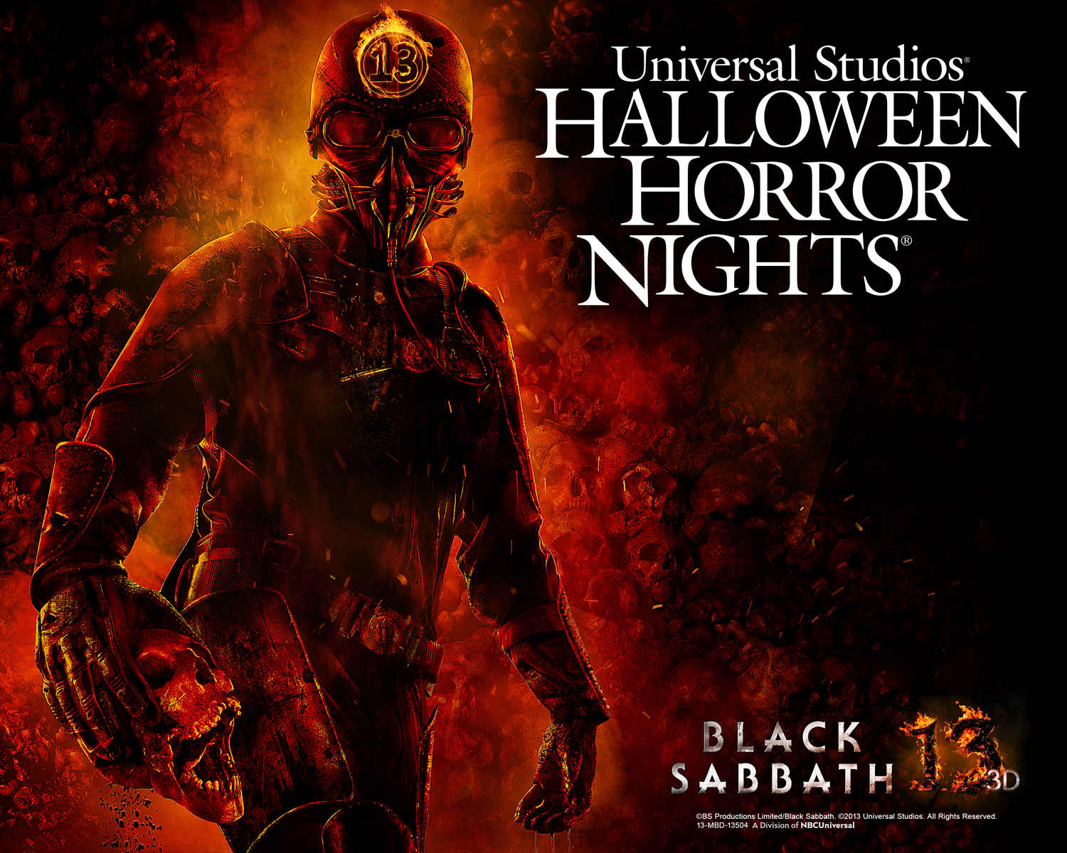 black sabbath 13 3d coming to halloween horror nights hollywood theme park adventure - Halloween Horror Night Theme