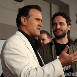 "Bruce ""Ash"" Campbell and Fede Alvarez, Director of ""Evil Dead (2013)"""