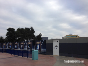 One of the many construction walls now up at Universal Studios Hollywood in preparation for the Wizarding World of Harry Potter in 2016