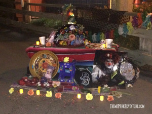 "Dia de Los Muertos altar in honor of Mark ""Sumo"" Sagato courtesy of Knott's Network"