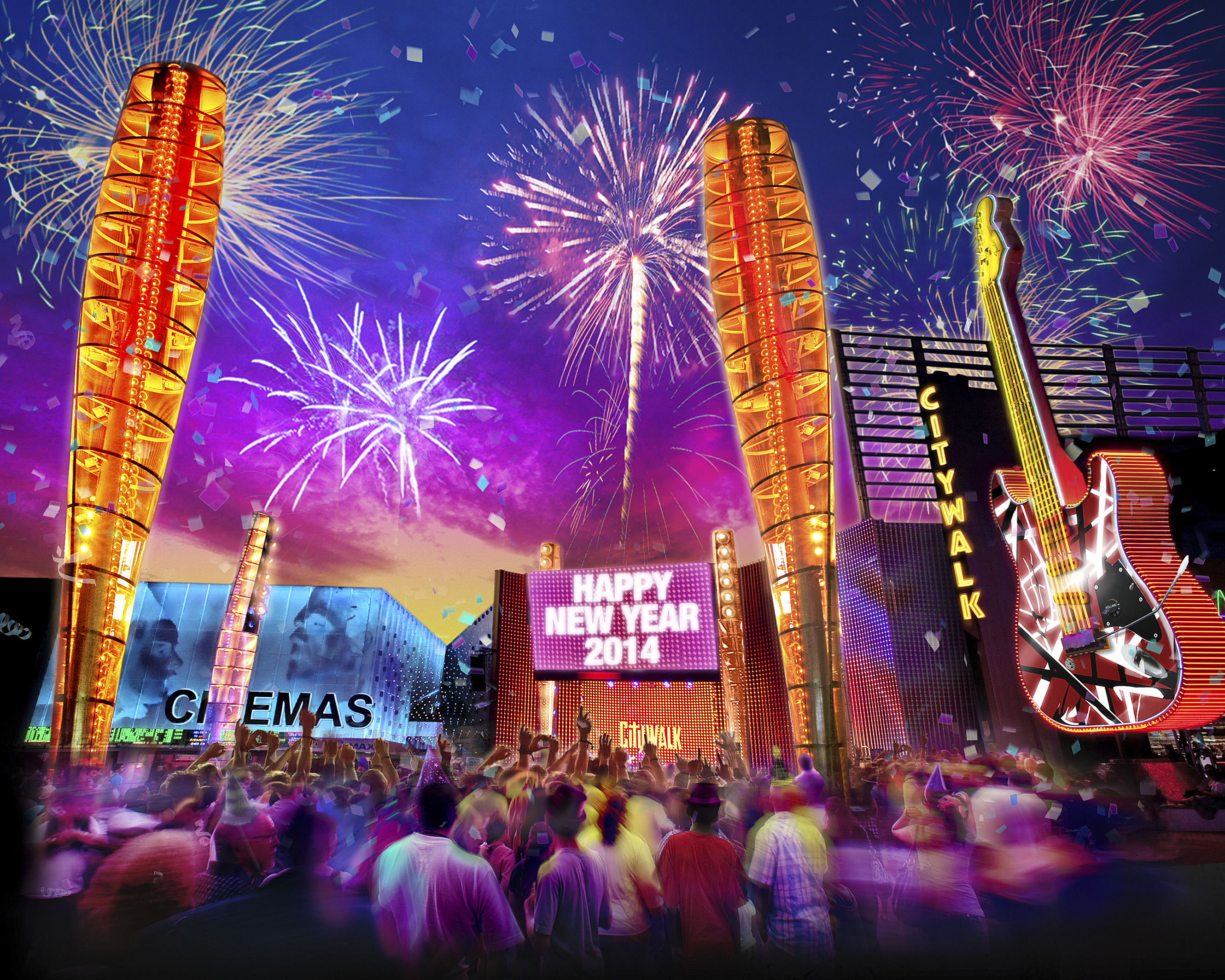 New Year S Eve At Universal Studios Hollywood And Citywalk