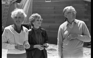 Marion and Virginia Knott with Charles Schulz