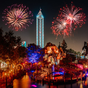 Timber Mountain Log Ride and Fireworks