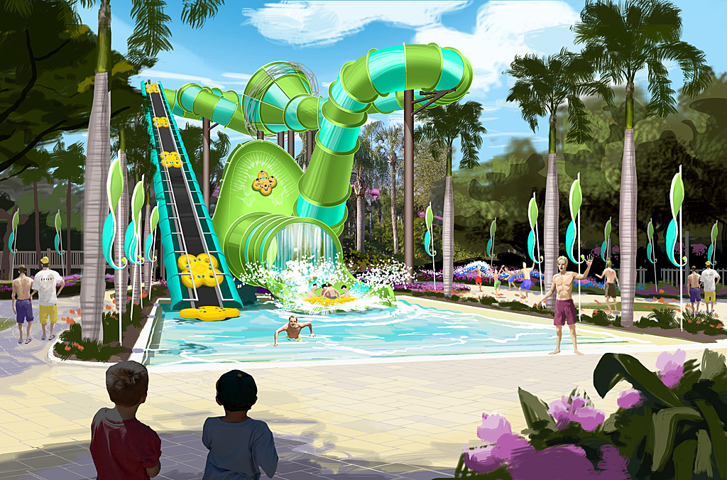 Adventure island unveils colossal curl for 2015 theme park adventure for Busch gardens adventure island