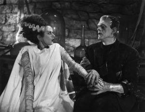 Frankenstein's Monster and his Bride courtesy of Nightfall and Universal