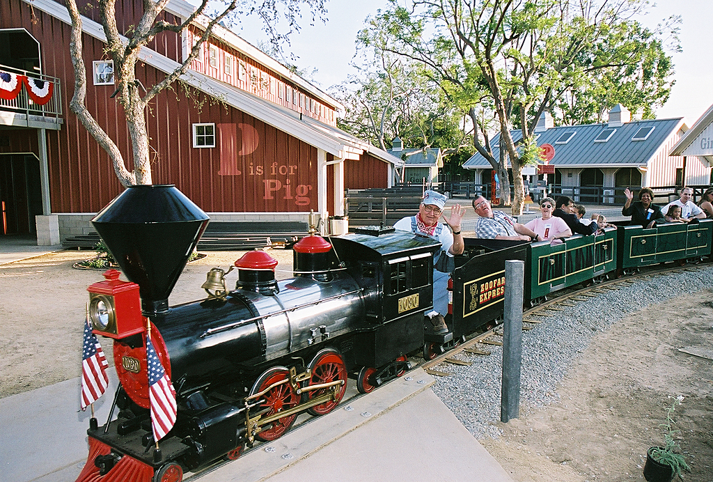 Zoofari Train at Santa Ana Zoo originally from Santa's Village in Skyforest