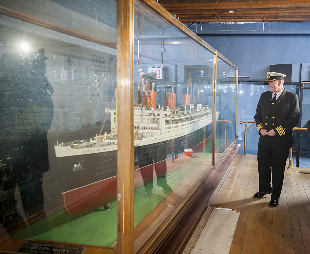 Queen Mary scale model in New York loaned to the Queen Mary