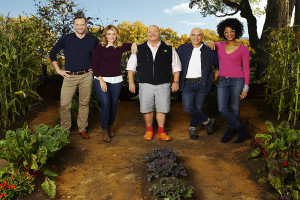 "THE CHEW - ABC's  ""The Chew"" features entertaining expert Clinton Kelly, health and wellness enthusiast Daphne Oz, celebrity chefs Mario Batali, Michael Symon and Carla Hall. (ABC/Craig Sjodin)"