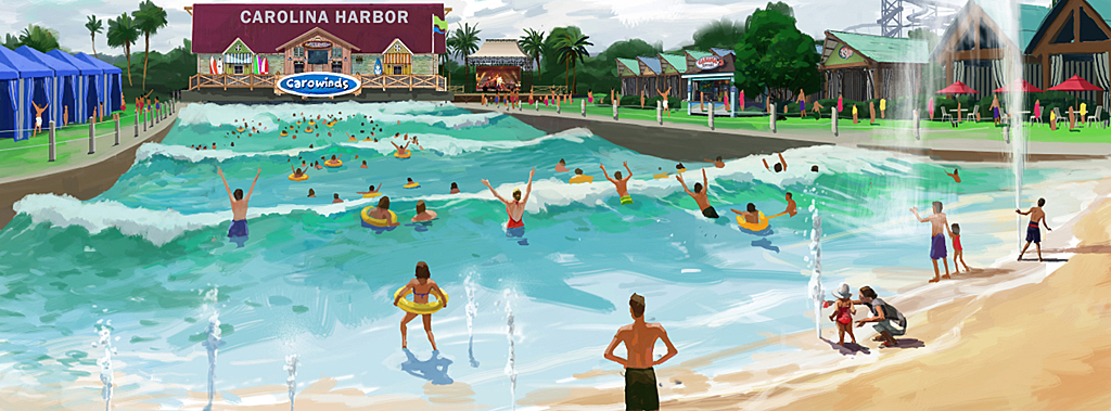 Carolina Harbor Wave Pool Carowinds