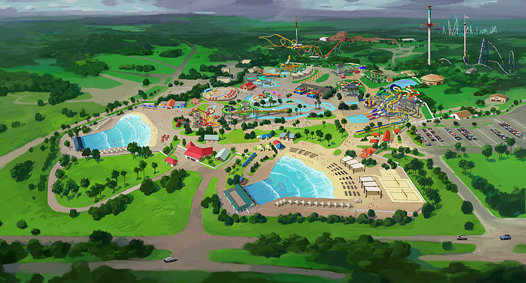 Carowinds Carolina Harbor Concept. Carolina Harbor Birdseye View