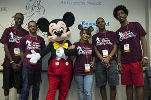 Mickey Mouse Draws Up Fun with Students at 2015 Disney Dreamers Academy