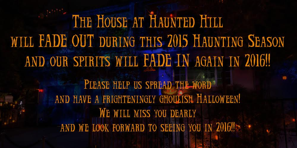 House at Haunted Hill Announcement