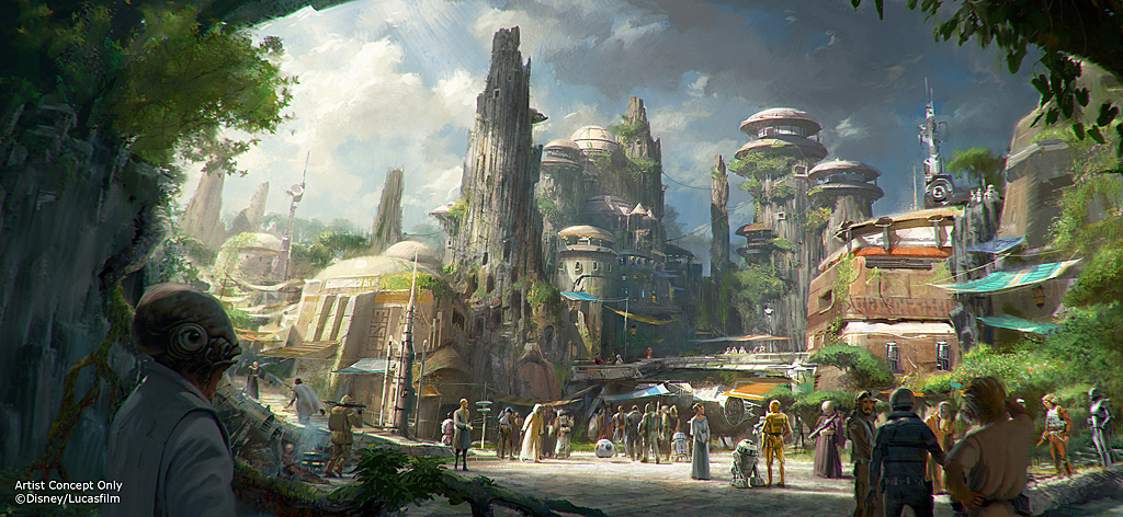 Star Wars Land Concept Rendering 1