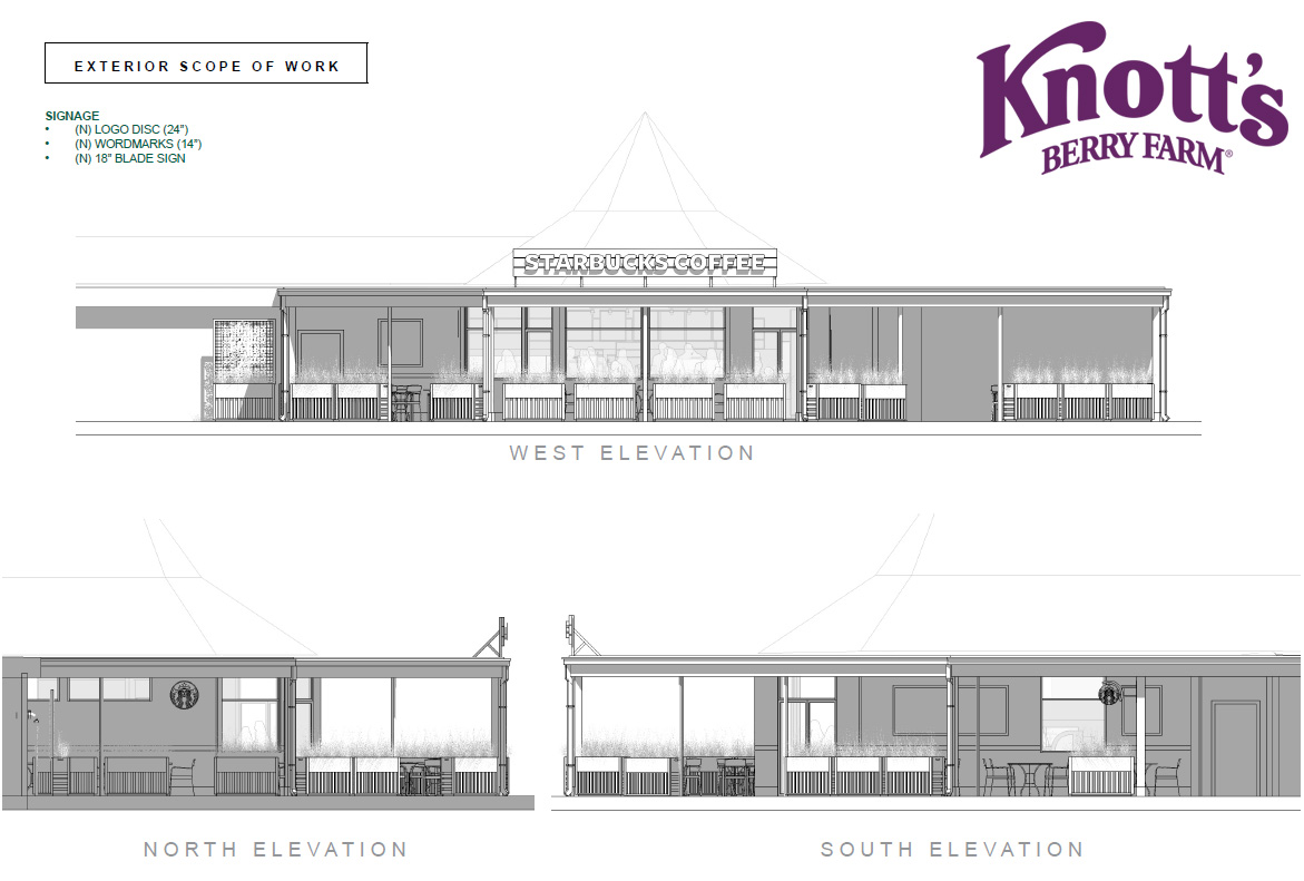Knott's Berry Farm Starbucks Elevations