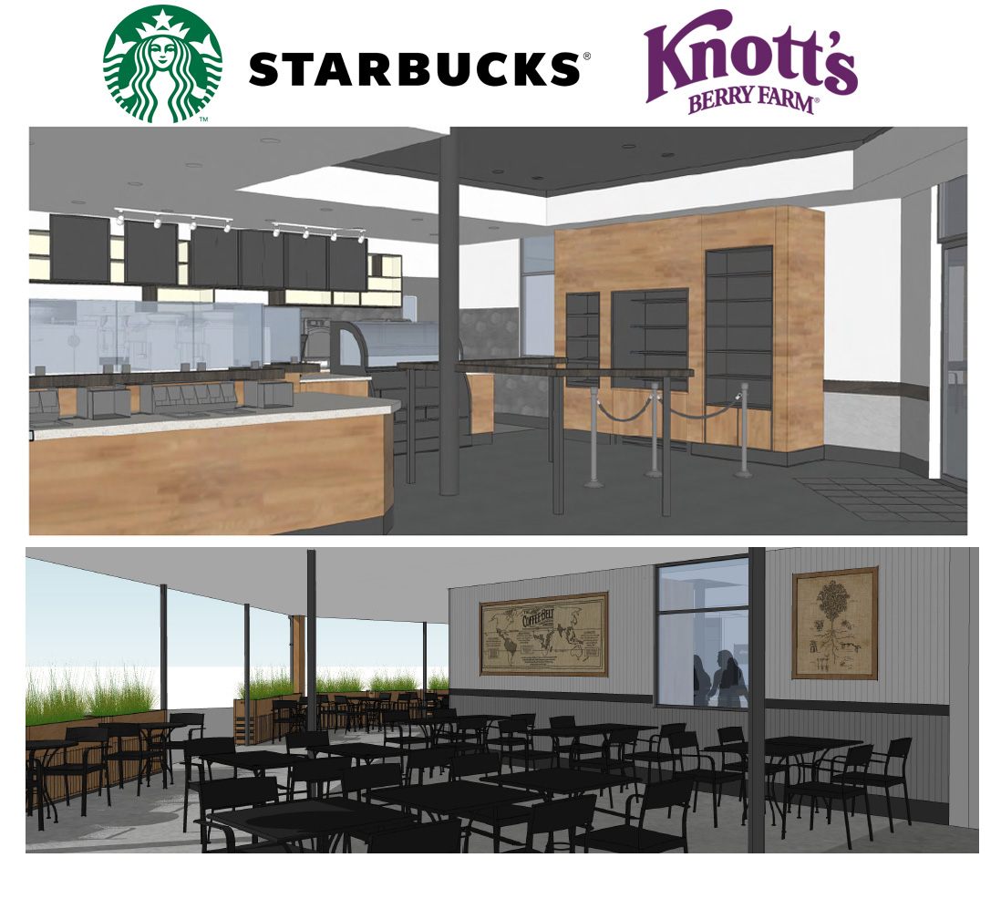 Knott's Berry Farm Starbucks Interior Rendering