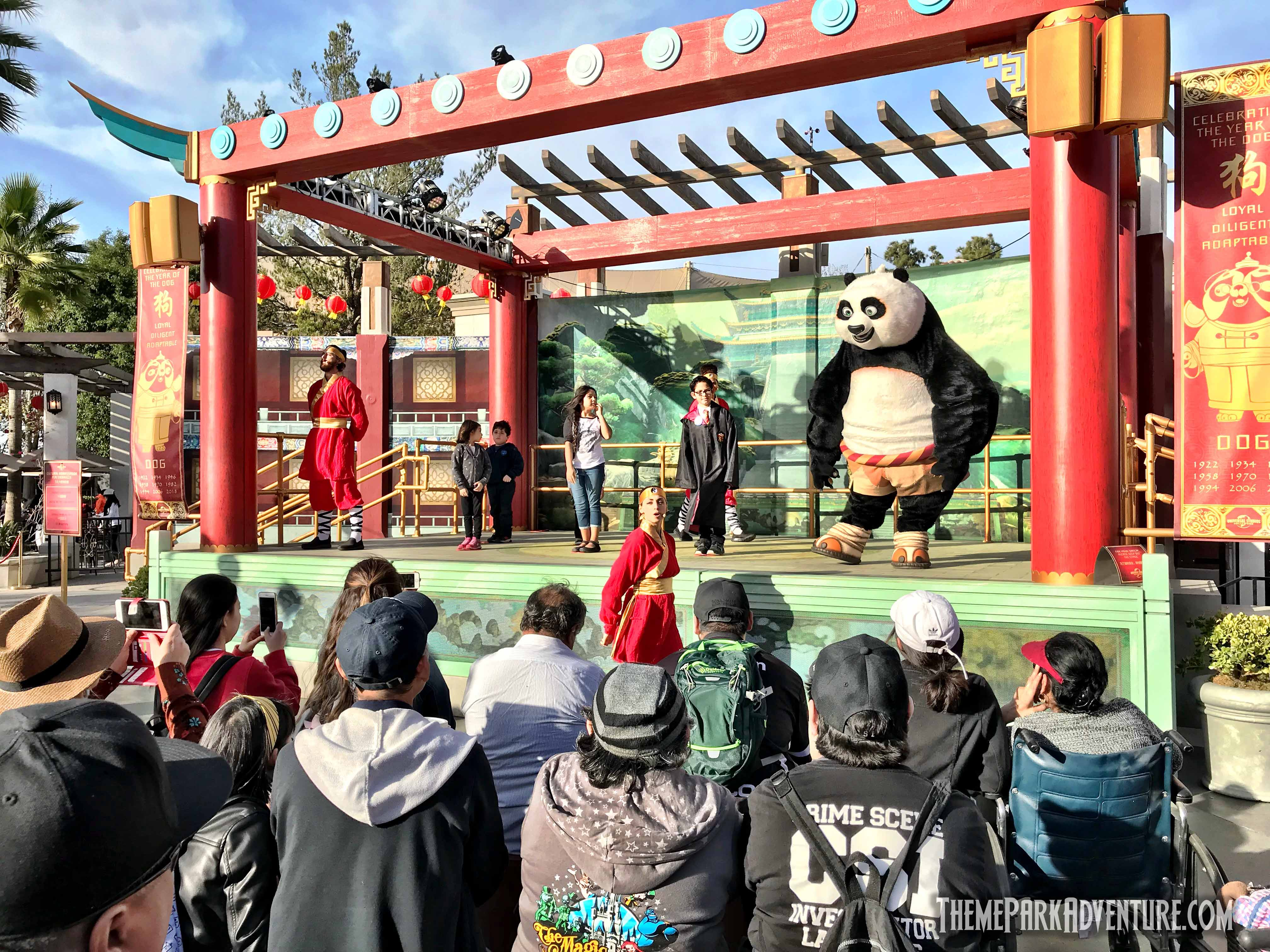 there are other character meet and greets in the plaza with po and friends as well as the expected selection of lunar new year 2018 merchandise